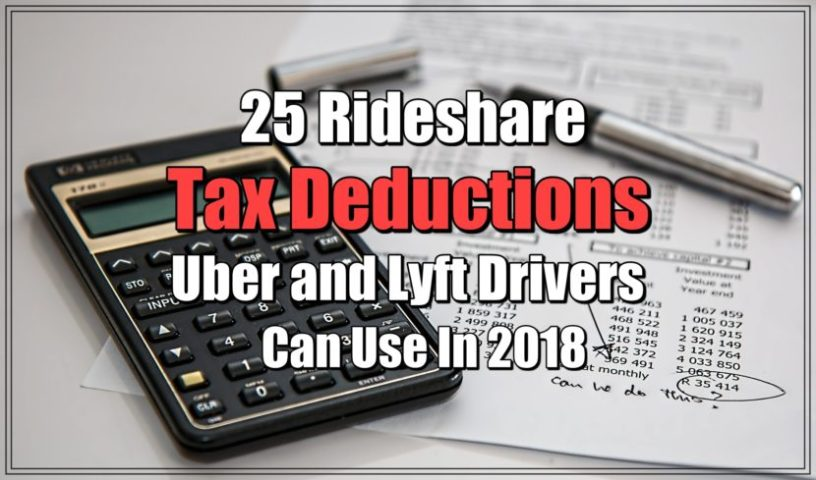 25 Rideshare Tax Deductions Uber and Lyft Drivers Can Use in